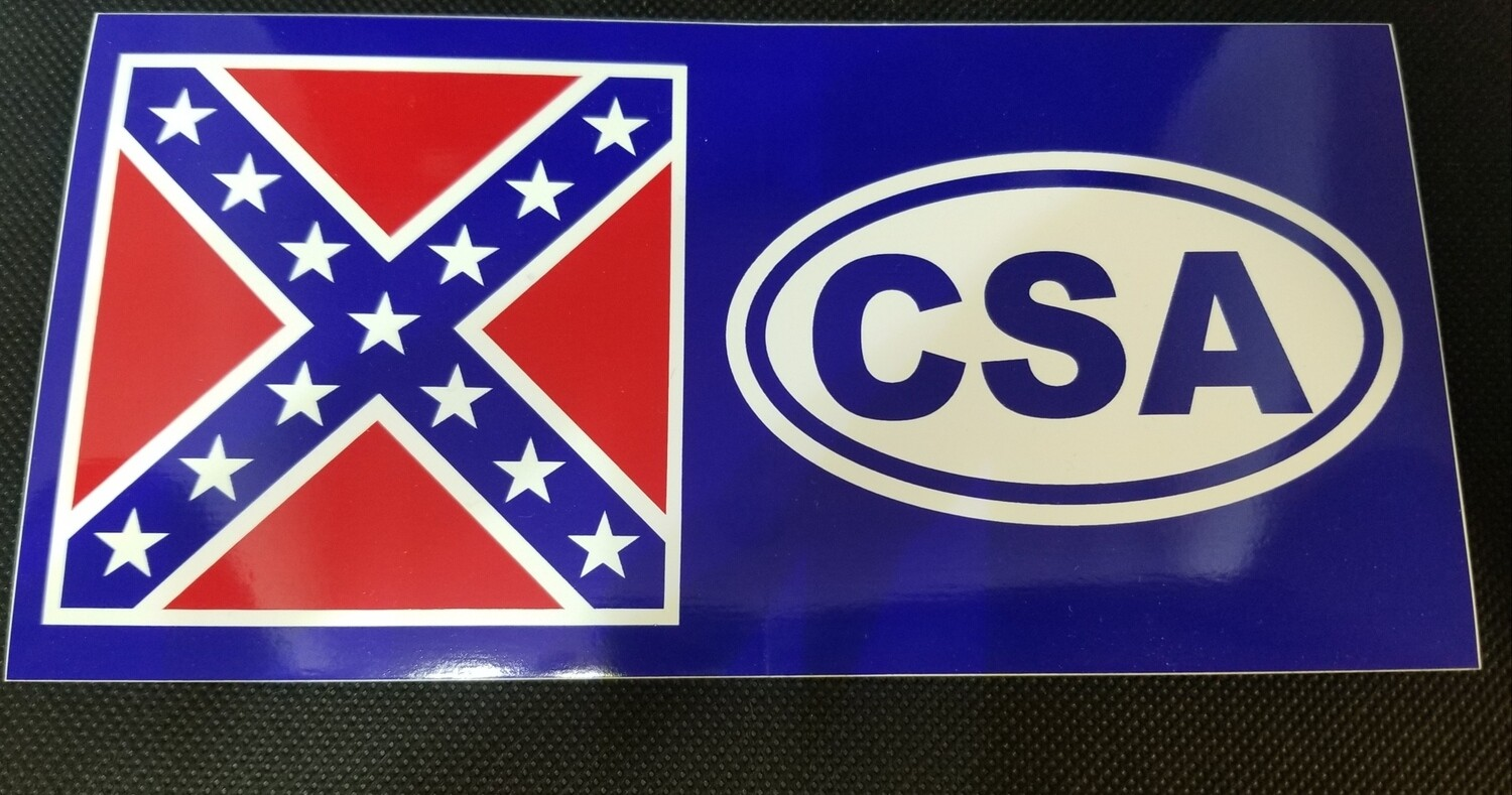 CSA Battle Flag Sticker
