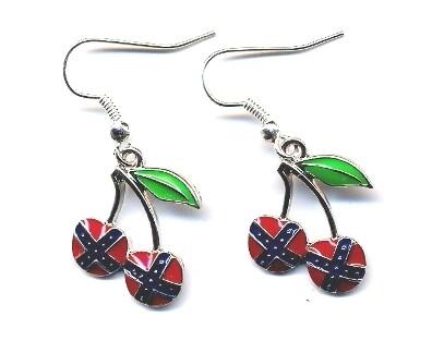 Confederate Cherries Dangle Earrings