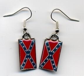 Confederate Battle Flag Earrings