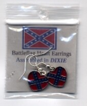 Confederate Small Hearts Earrings