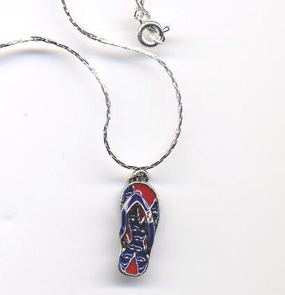 Confederate Flip Flop Necklace