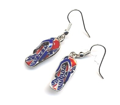 Confederate Flip Flop Earrings