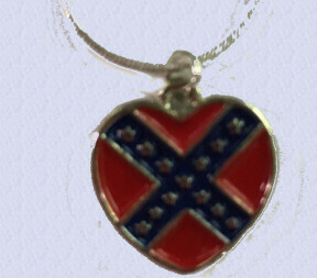 Confederate Small Hearts Necklace