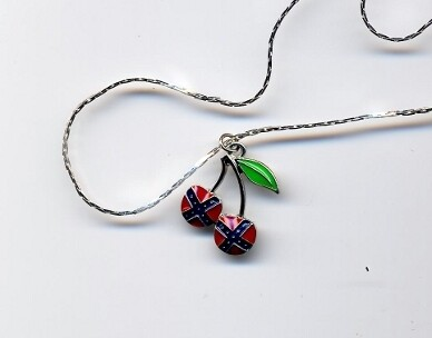 Confederate Cherries Necklace