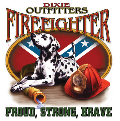 Firefighter - Square Sticker by Dixie Outfitters