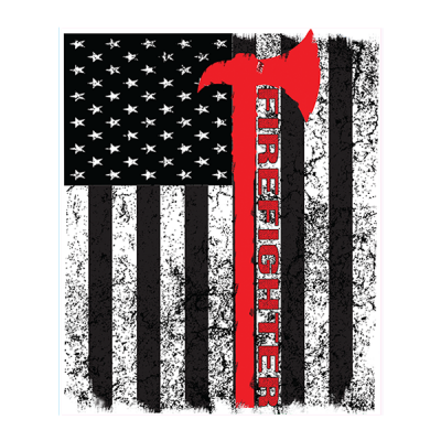 Firefighter - Square Sticker v2 by Dixie Outfitters
