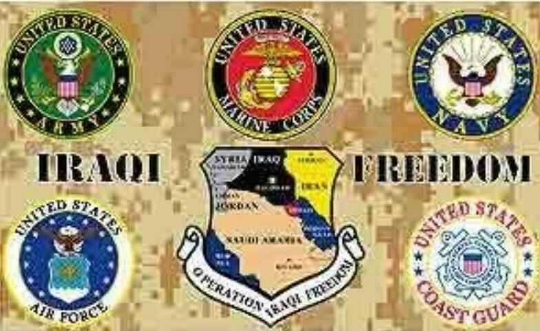 United States Military Flag - Iraqi Freedom