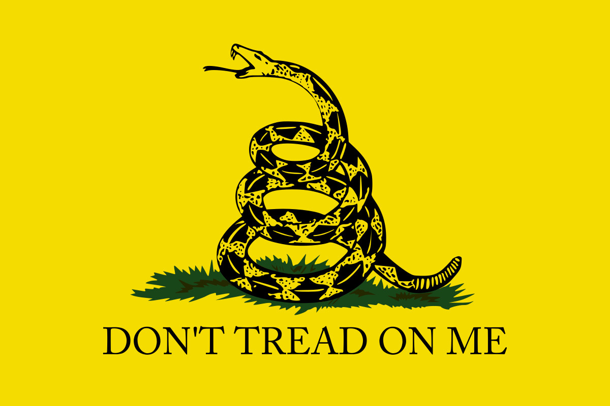 Don't Tread On Me Gadsden Flag - Yellow
