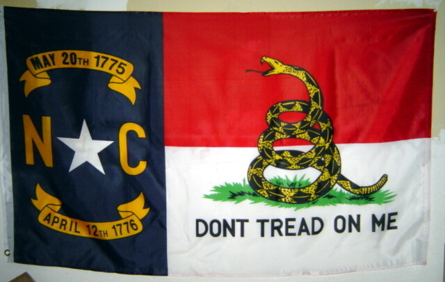 Gadsden North Carolina Combo Flag