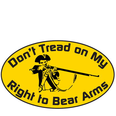 Right To Bear Arms Oval Sticker by Dixie Outfitters®
