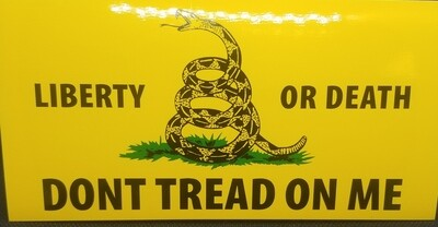 Don't Tread On Me - Rectangle Sticker - Yellow