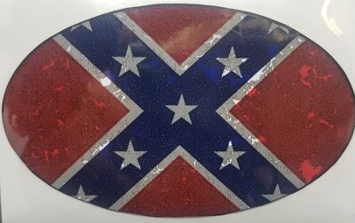 Rebel Flag - Oval Sticker by Dixie Outfitters