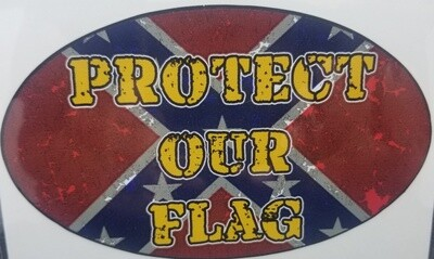 Protect Our Flag - Oval Sticker by Dixie Outfitters®