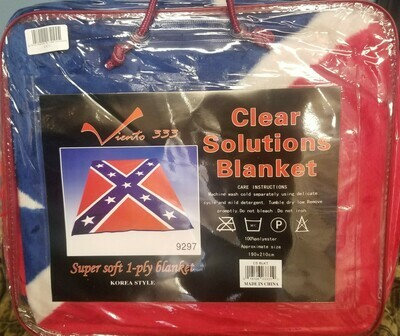 Rebel Flag Poly Type Mink Blanket By Clear Solutions