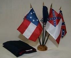 "CSA Desk Set 4""x6"" Polyester Flags w/ Wood Base"