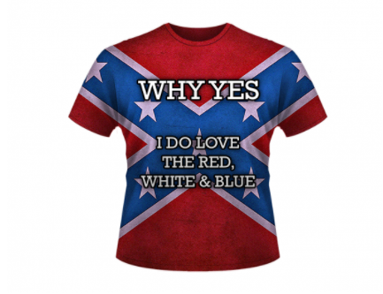 Red, White, and Blue All Over Shirt By Dixie Outfitters®