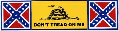 DTOM / Battle Flag Bumper Sticker
