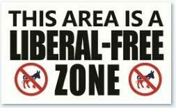 This Area Is A Liberal Free Zone Flag