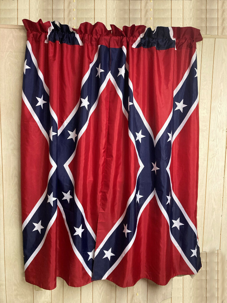 Confederate Flag Window Curtains