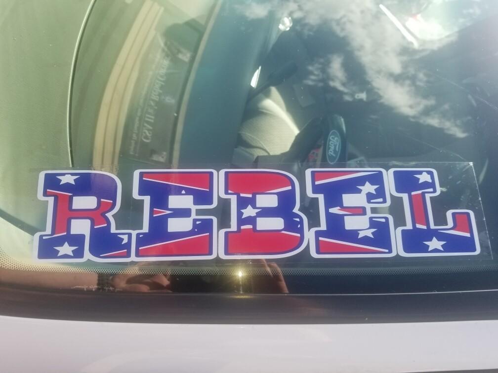 Rebel Clear Decal / Sticker
