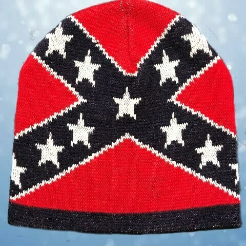 Confederate Flag Beanie Cap