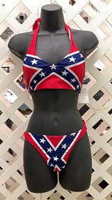 Confederate Halter Top Bikini
