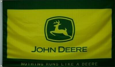 John Deere Flag - Nothing Runs Like A Deere