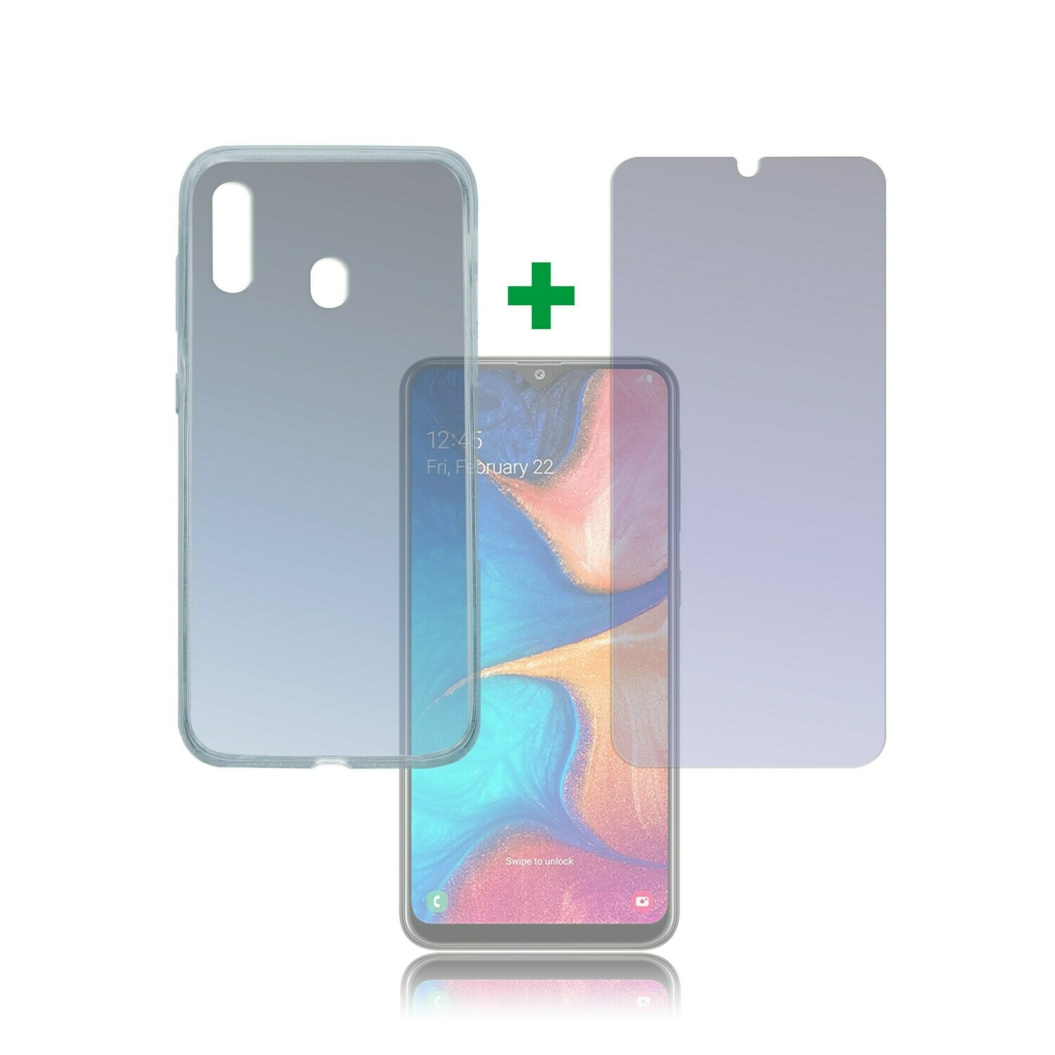 4smarts 360° Protection Set Limited Cover Samsung Galaxy A20e transparent