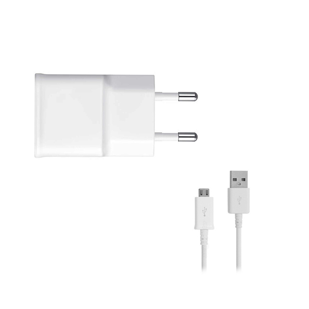 Samsung - ETAOU83EWE - Charger / Adapter + Micro USB Cable - 1000mA