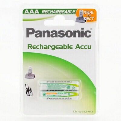 AAA Panasonic Akku P03P 750 mAh, NiMH, 2er