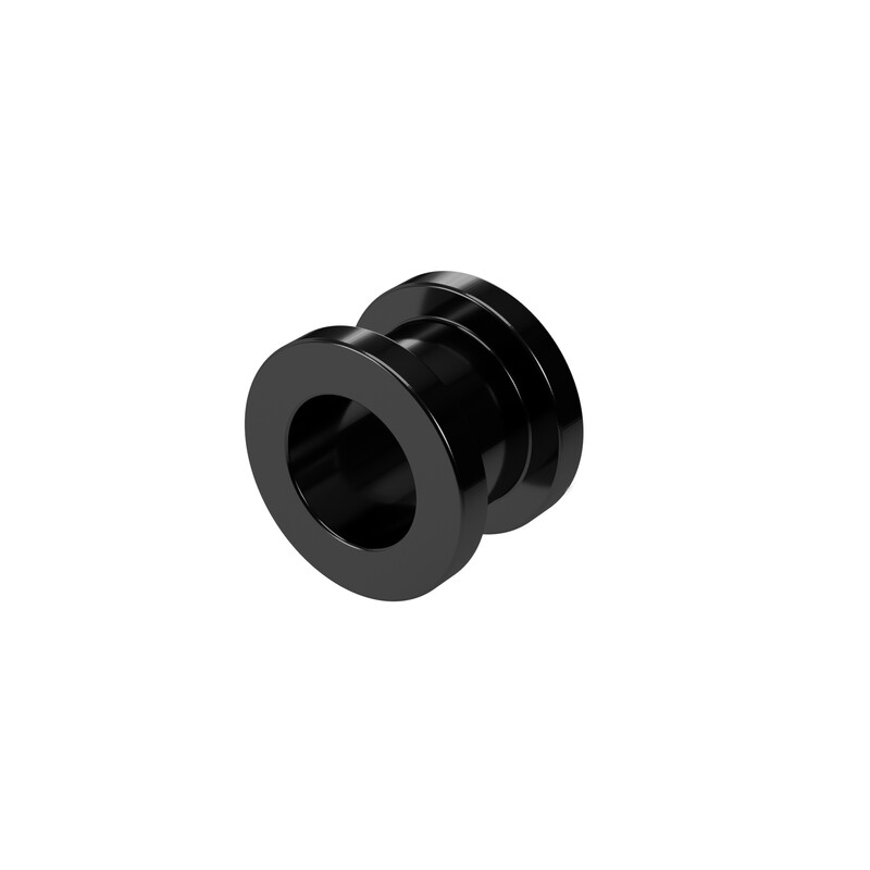 8mm Steel Ear Tunnel Black Screw Back Plug Gothic Jewellery Alternative