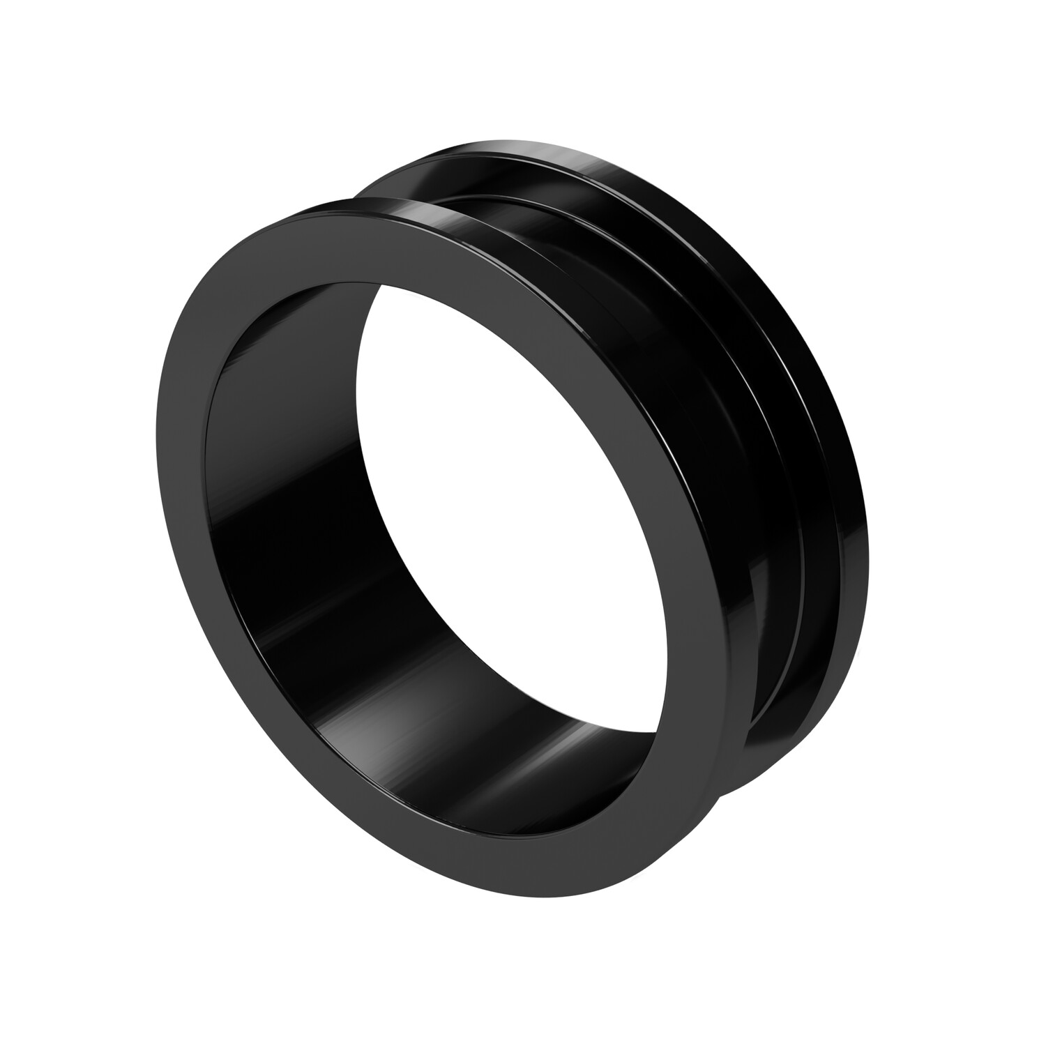 24mm Steel Ear Tunnel Black Screw Back Plug Gothic Jewellery Alternative