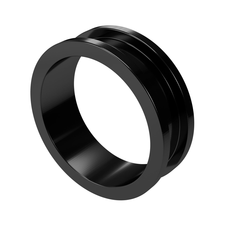 26mm Steel Ear Tunnel Black Screw Back Plug Gothic Jewellery Alternative