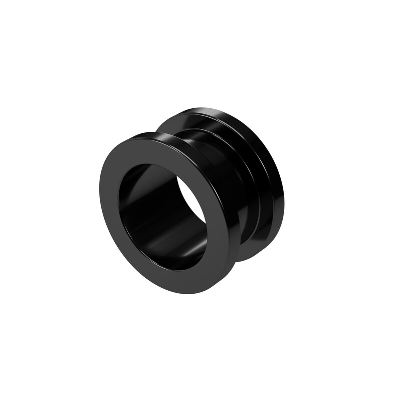 12mm Steel Ear Tunnel Black Screw Back Plug Gothic Jewellery Alternative