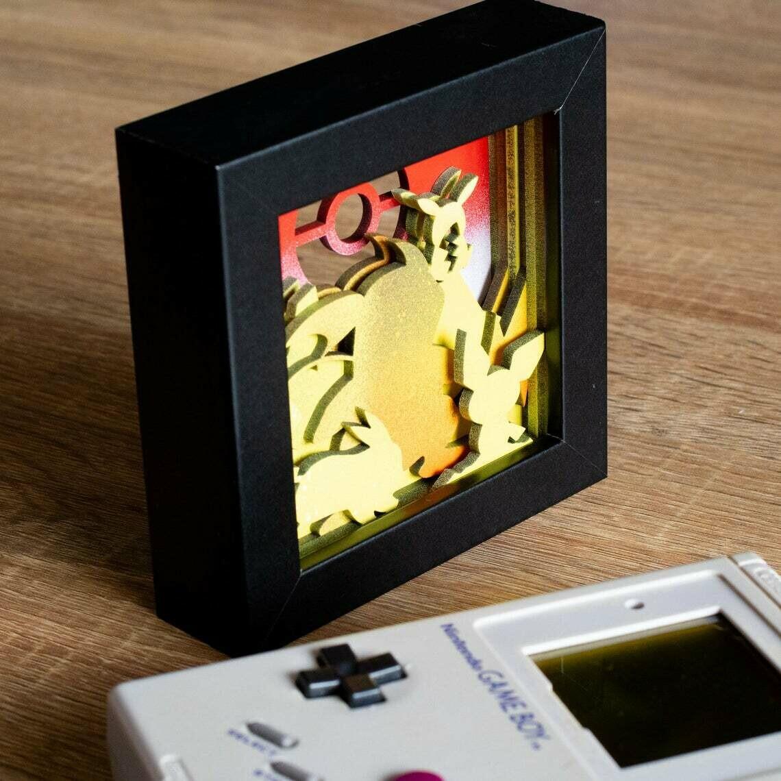 Pikachu Shadow Box