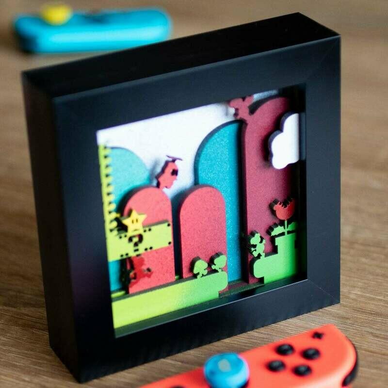 Mario Shadow Box