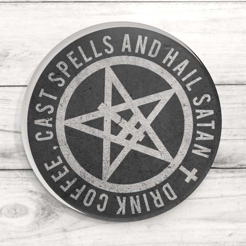 Hail Satan Custom Acrylic Coaster