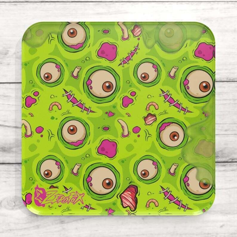Green Zombie Goo Custom Acrylic Coaster