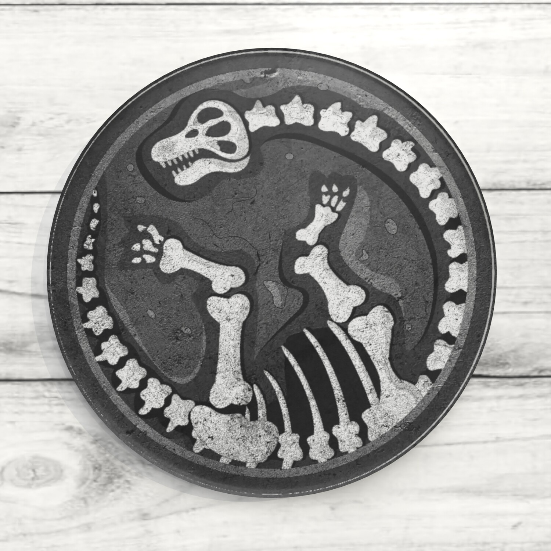 Dino Bones Custom Acrylic Coaster