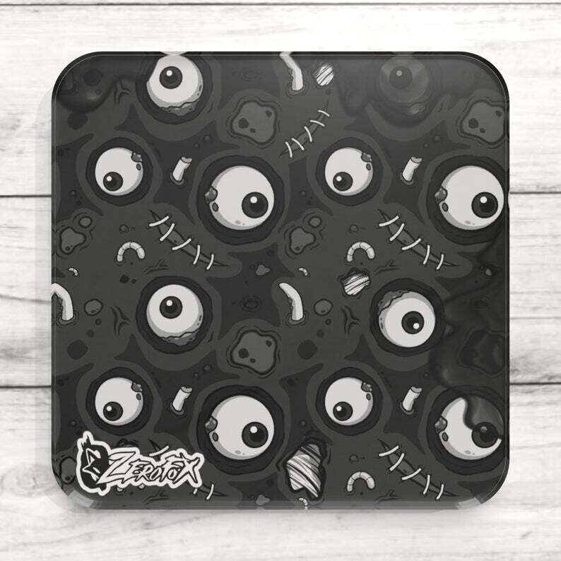 Black Zombie Goo Custom Acrylic Coaster