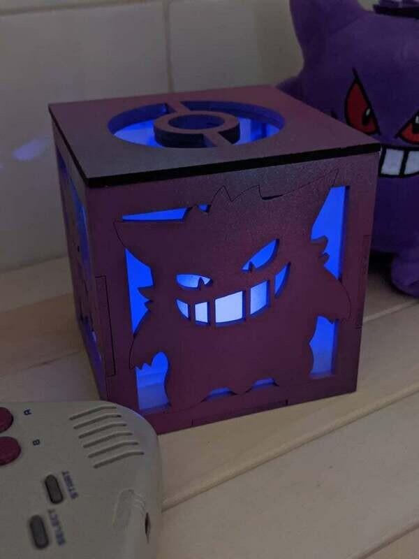 Gengar Ghost Types Tea Light Lantern