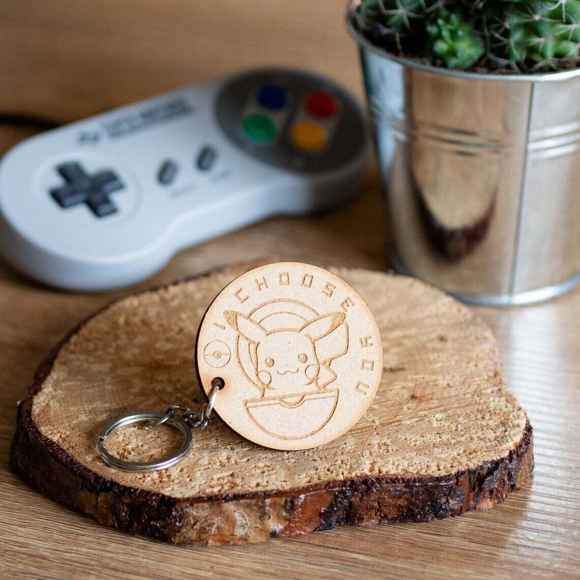 I Choose You Wooden Keyring