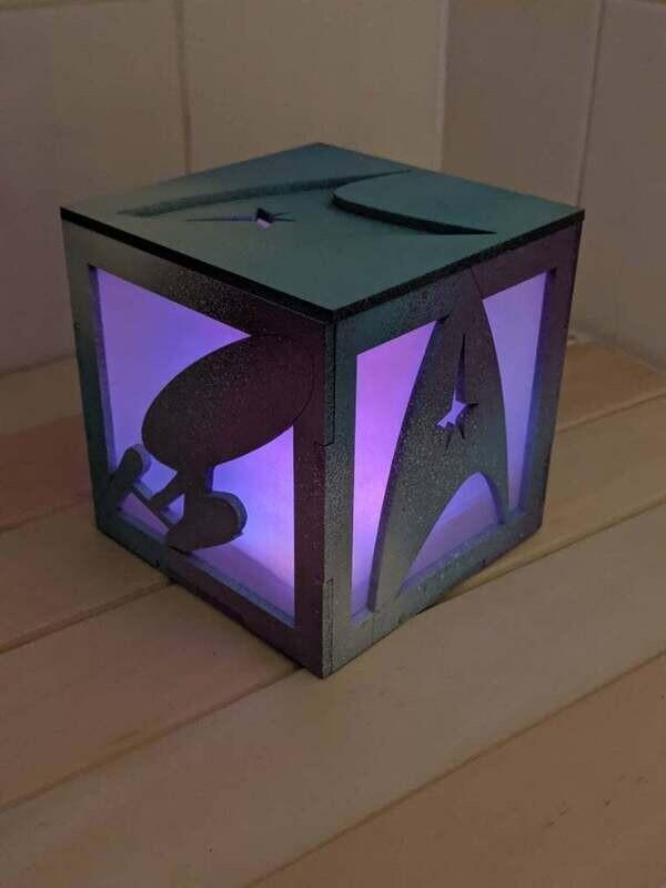 Star Trek Tea Light Lantern