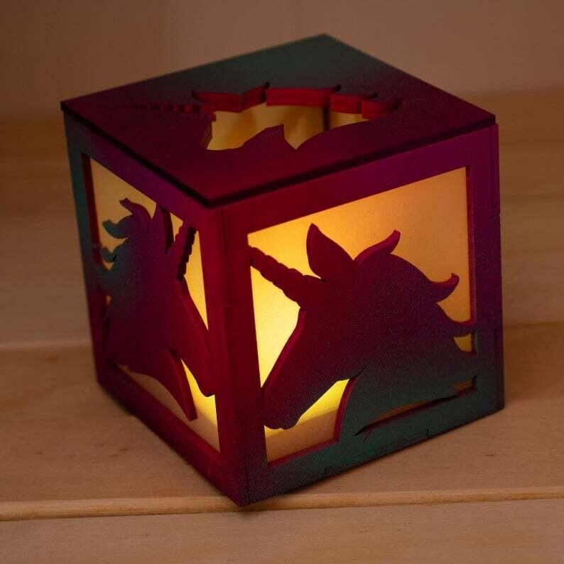 Unicorn Tea Light Lantern