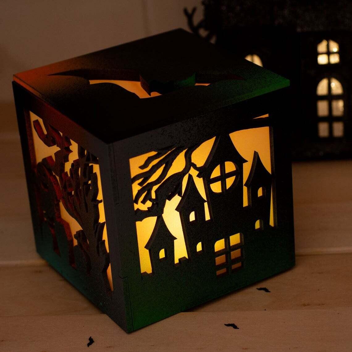 Halloween Tea Light Lantern