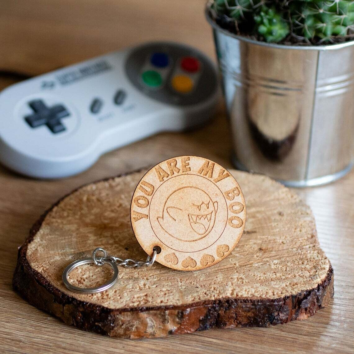 You Are My Boo Wooden Keyring