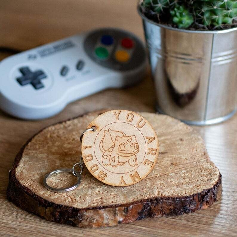 You Are My Number 001 Wooden Keyring