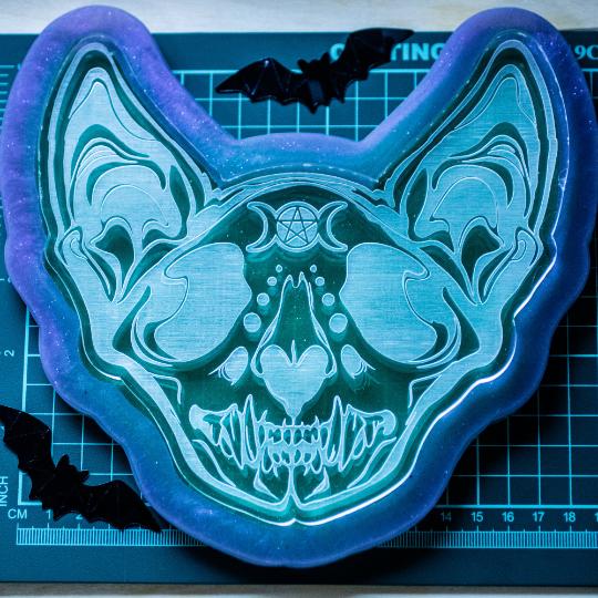 Mould Cat Skull 20x20cm
