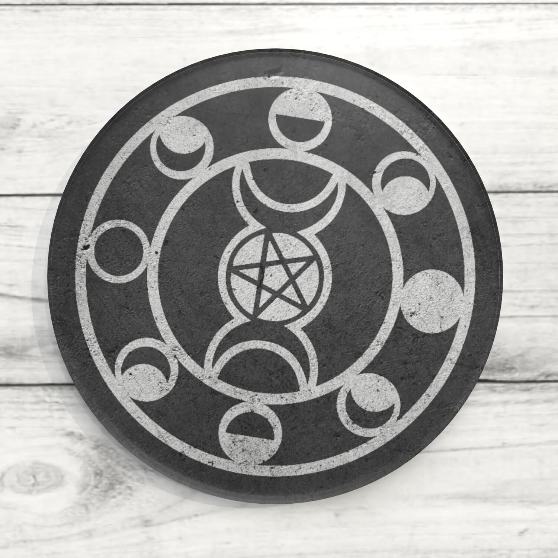 Moon Phases Custom Acrylic Coaster