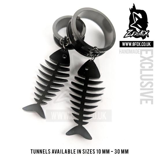 Dangle Tunnel Fish Bones 10mm-50mm